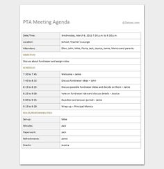 Why Your Nonprofit Needs Meeting Agendas  Pta Grant Writing And