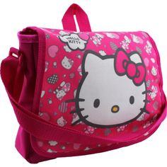 Kids Girls Hello Kitty Heart Print School Messenger Shoulder Book ...