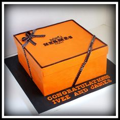 Hermes Box cake - This was supposed to be a birthday cake but she got engaged the day before pick up. I know there are lots Hermes box cakes out there but I was really inspired by Rouvelees.