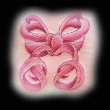 Pink ribbon tattoo