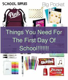 Get ready for the back to school season with our kid-friendly recipes, to-do lists, organizational tips, plus class crafts and supplies. #teachersofin... The New School, New School Year, First Day Of School, Back To School Hacks, Going Back To School, School Organization, Organization Hacks, Kindergarten Schedule, Private Foundation