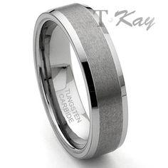CORSAL Tungsten Carbide Satin Men's Wedding Ring