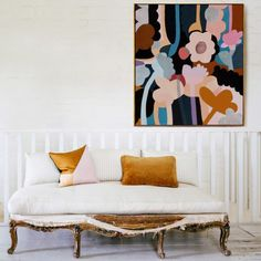 floral painting with cheerful color palette. / sfgirlbybay
