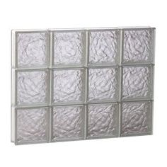 Clearly Secure 31 in. x 23.25 in. x 3.125 in. Non-Vented Ice Pattern Glass Block Window S3224IC at The Home Depot - Mobile