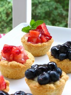 Itsy Bitsy #Berry Cream Pies - from Willow Bird Baking