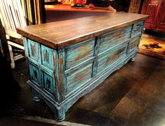 Turquoise Writing Desk | Bitterroot Bit & Spur