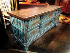 Turquoise Writing Desk | Bitterroot Bit & Spur