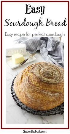 Easy Sourdough Bread Recipe - Savor the Best Easy Sourdough Bread Recipe, Sourdough Bread Starter, Sourdough Bread Machine, Recipe Breadmaker, Coconut Flour Bread, Almond Flour Recipes, Sugar Bread, Coconut Oil, Almond Meal