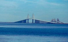 Sunshine Skyway Bridge, St. Pete to Palmetto, FL The old bridges and the new one.  Amazing!