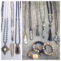 Assorted Fall 2014 Lisa Jill Jewelry necklaces and bracelets. Email lisajilljewelry@gmail.com for pricing.