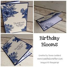 Catalogue 2016 Countdown - 3 days to go Stampin Up Birthday Blooms card by Emma 2016 Occasions CatalogueStampin Up Birthday Blooms card by Emma 2016 Occasions Catalogue Making Greeting Cards, Greeting Cards Handmade, Birthday Wishes, Birthday Cards, Birthday Bouquet, Watercolor Invitations, Mothers Day Cards, Cards For Friends, Scrapbook Cards