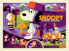 Image of SNOOPY COME HOME variant edition screenprint