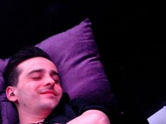 Bastien the Bartender smiling while having a nap on his break - wonder what he's dreaming of???