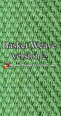 Crochet Tutorial Crochet basketweave stitch tutorial - Share this: The Basket Weave stitch can be crocheted in different ways. I hope you enjoy this mini series of Basket Weave stitches. Make sure to check out the first one too. Find more … Crochet Geek, Love Crochet, Learn To Crochet, Crochet Yarn, Easy Crochet, Modern Crochet, Crochet Summer, Crochet Stitches Patterns, Knitting Stitches