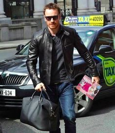 Michael Fassbender looking for inspiration in our new publication Cinema style (available in newsagents, bookstores and our shop online in English, French and Spanish) http://elcostureropattern.com/en/