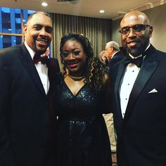 #CCAC President Dr. Bullock (@QBpresCCAC) poses here with Distinguished Alumni Alisha Payne and her husband Brad Payne at the #CCAC50gala