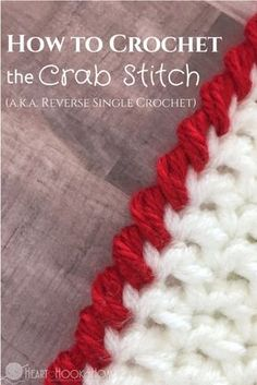 The Crab Stitch Crochet Stitch + Video Tutorial