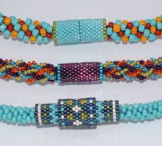 kumihimo with peyote | B143002 TOHO Beads Presents: Kumihimo Magnetic Clasp