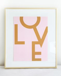 LOVE (GOLD+PINK)