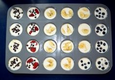 Fruity pancake mini muffins