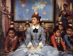 """The King and I (1956) Deborah Kerr as Anna Leonowens """"Getting to know you ... """". #CostumeDesign: Irene Sharaff"""