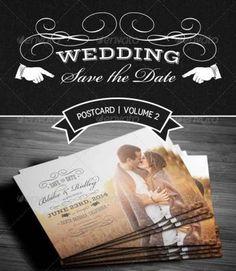 Desain Undangan Pernikahan Terbaik Template Photoshop - Contoh Desain Undangan Pernikahan Terbaik - Save The Date Postcard V2