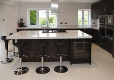 A very modern pure white quartz stone worktop for your kitchen from The Marble Store. This worktop is Blanco Zeus Extreme by Silestone http://www.themarblestore.co.uk/home