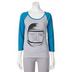 Juniors' Threadless Astronaut Raglan T-Shirt