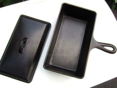 cast iron loaf pan with lid   ... Ideas » Minty Griswold Cast Iron Loaf Pan and SCARCE Lid, pn 877, 859