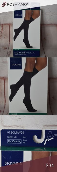 ad5ed37bc SIGVARIS Women s Closed-Toe Calf High Med socks SIGVARIS Women s ACCESS 970  Closed-Toe