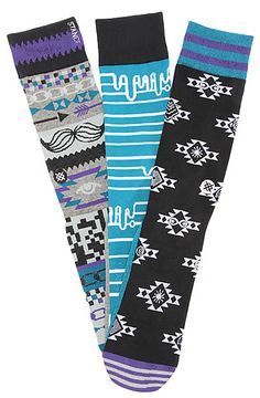 Stance Socks The Harrington 3OfAKind Socks in Purple: Karmaloop $16.00