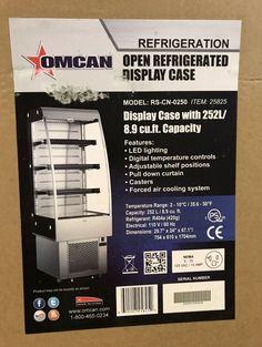 $1500 • Buy Omcan Open Refrigerated Display Case Beverage Refrigerator, Cooling System, Office Phone, Display Case, Adjustable Shelving, Landline Phone, Glass Display Case, Display Window