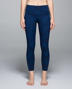 Lululemon   High Times Pant in sashiko cross inkwell rugged blue
