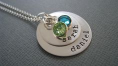 Hand Stamped Mommy Jewelry  Personalized Sterling by hiphophippos, $46.00