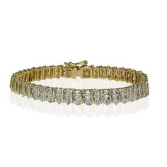 Diamond Bracelet 141 Diamonds yellowgold  Diamant-Armband mit 141 Diamanten 1,335ct in Gelbgold