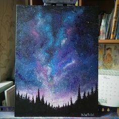 juliabulletblog: Galaxy sky acrylic painting :) I... - aestheticals & sunshine daydreams