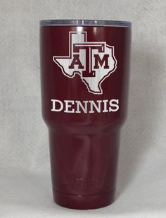 Texas A&M Aggies Yeti Custom Engraved Cup by FantasticDealSpot