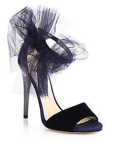 489226b1cb9 Jimmy Choo - Lilyth Mixed-Media Bow Sandals