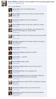 Harry Potter Facebook fun.