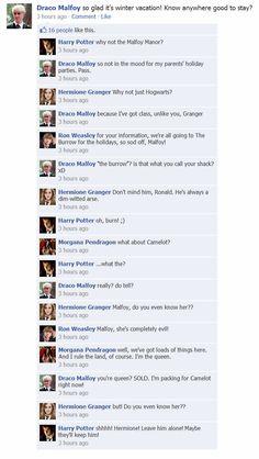 Harry Potter Facebook fun.