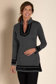 Runway Pullover - Black Pullover Sweater, Velvet Pullover Sweater, Velvet Sweater | Soft Surroundings