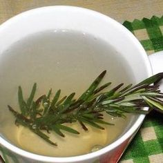 Steep fresh rosemary alone in hot water or in herbal teas to stimulate digestion, reduce fever, and increase circulation. Recipe at Food.com, found at www.edamam.com