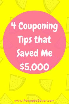4 Couponing Tips that Saved Me $5,000. How to save money shopping at the grocery store and other places. How to save money on groceries.