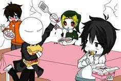 "Chibi creepypasta! Haha Looks like the""chef"" Is pissed off"