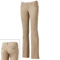 #PCandKohlsBTS for my daughter! Unionbay School Uniform Heather Bootcut Pants - Juniors