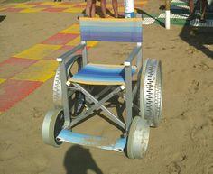 Beach wheelchair in Caorle