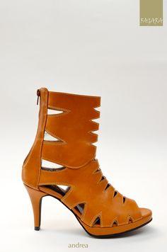 botín sandalia Andrea / 100% cuero