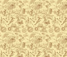 Steampunk Collage fabric by risarocksit on Spoonflower - custom fabric