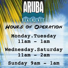 Aruba Beach Cafe – O