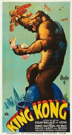 "Movie Posters:Horror, King Kong (RKO, 1933). Swedish Oversized (25.5"" X 47"").. ..."